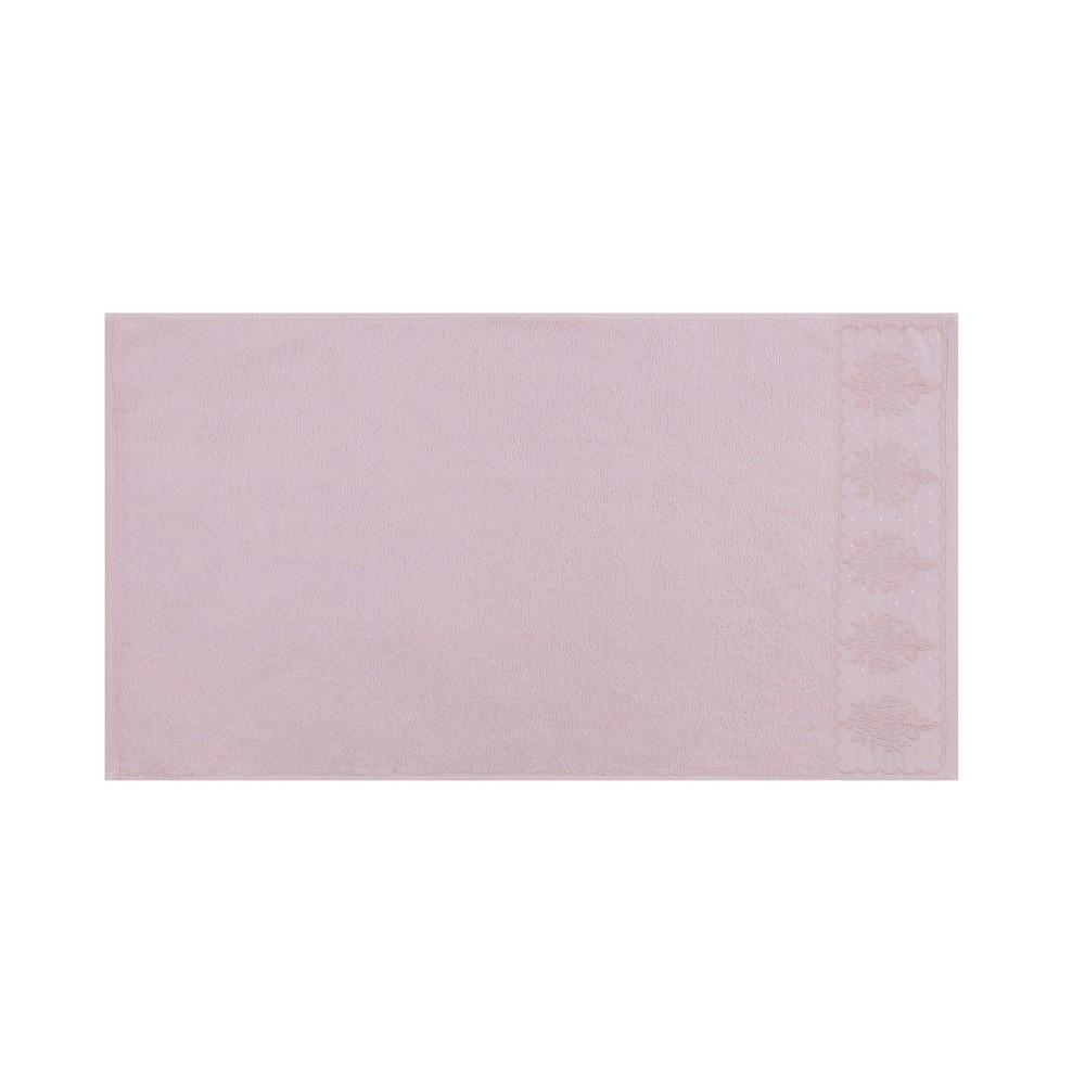Sada dvou ručníků v pudrově růžové barvě Victorian, 90x50cm