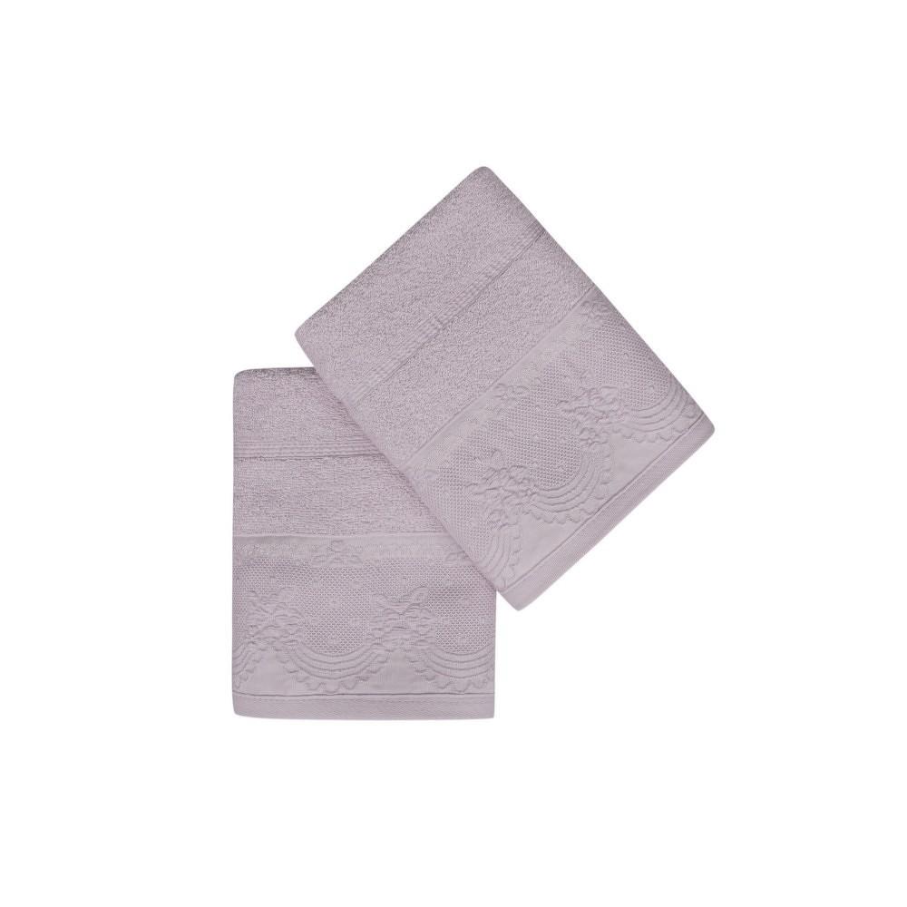 Sada dvou šeříkově fialových ručníků Baroque, 90x50cm