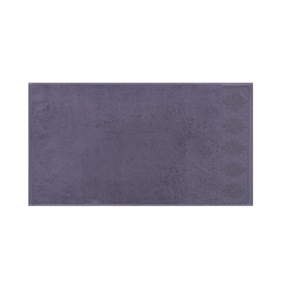Sada dvou tmavě fialových ručníků Victorian, 90x50cm