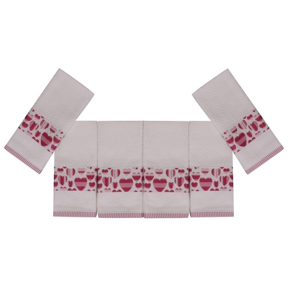 Sada šesti ručníků s motivem srdíček In Love