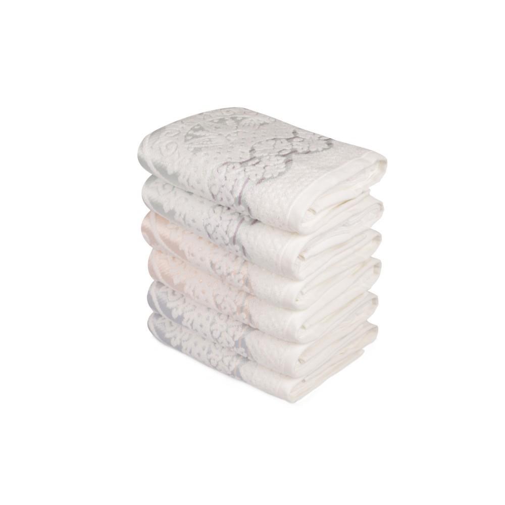 Sada šesti ručníků s ozdovným motivem Baroque, 90x50cm