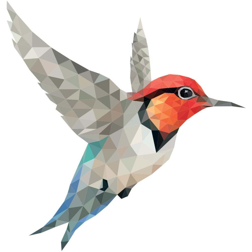 Samolepka Ambiance Origami Colibri