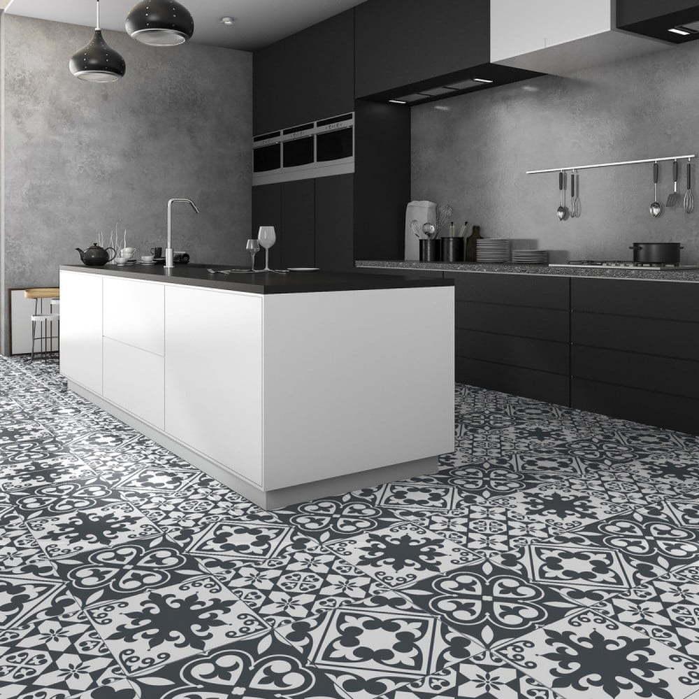 Samolepka na podlahu Ambiance Floor Sticker Tiles Leandro, 45 x 45 cm