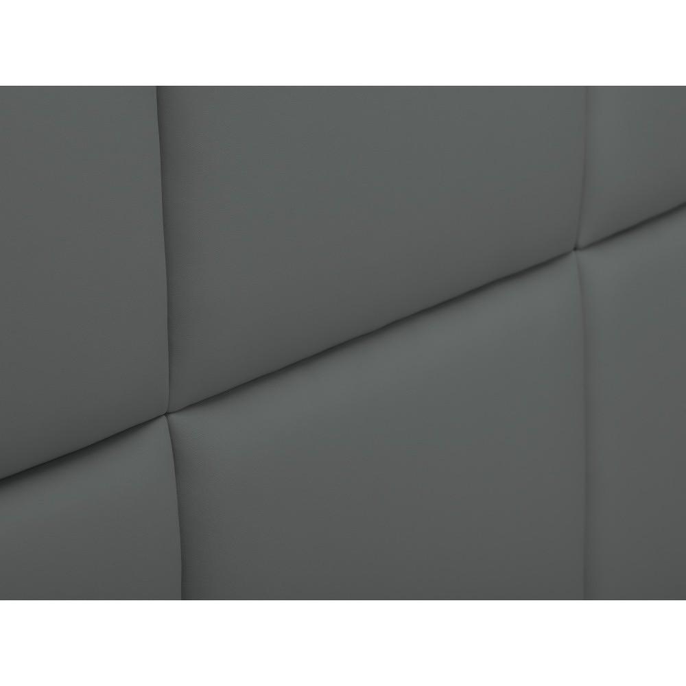 Šedé čalouněné čelo postele THE CLASSIC LIVING Aude, 160x120cm