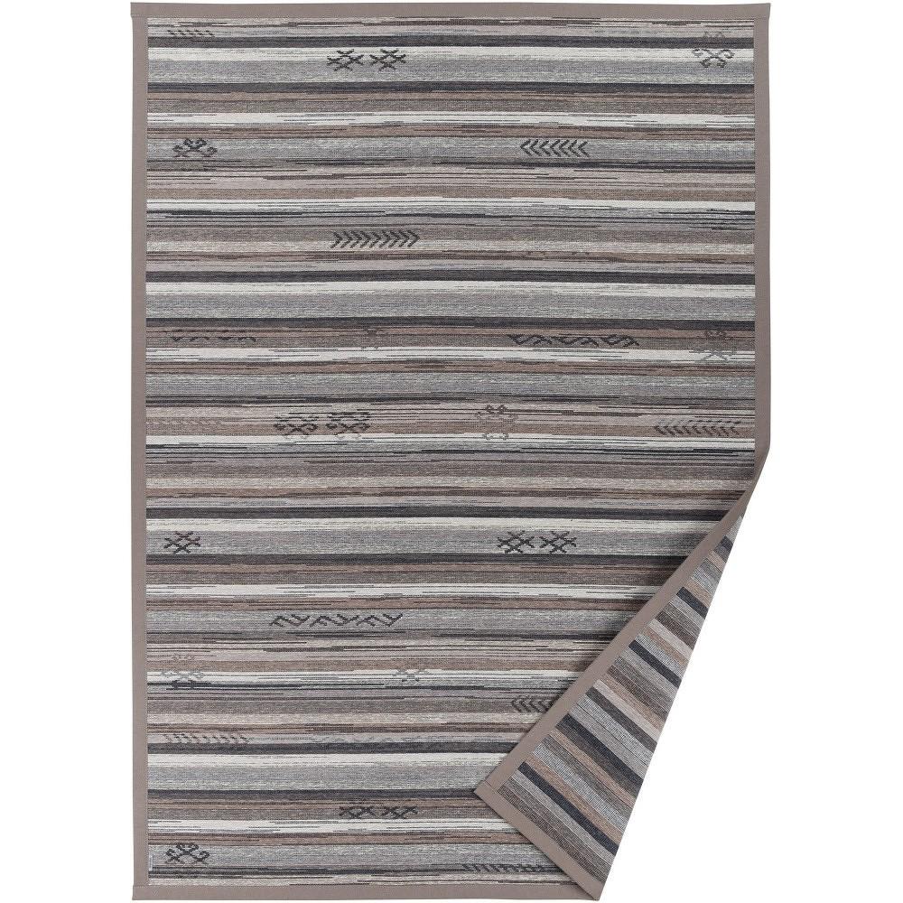 Šedobéžový vzorovaný oboustranný koberec Narma Liiva, 160x230cm