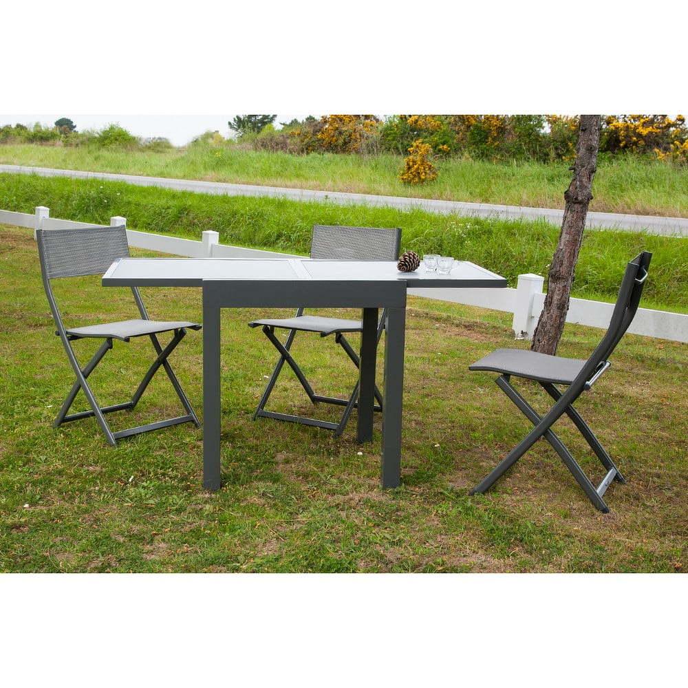 Šedý zahradní jídelní rozkládací stůl Ezeis Vegetal