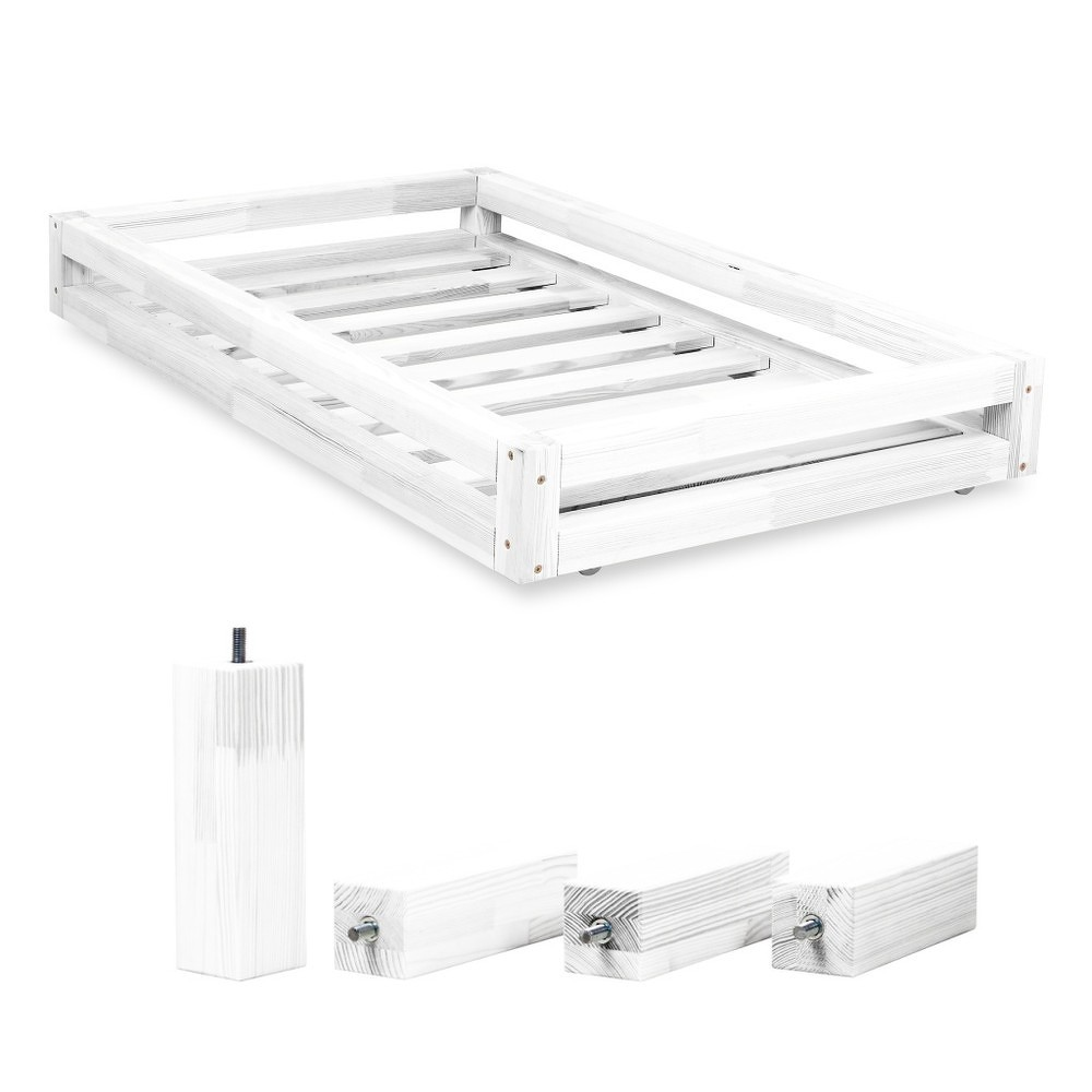 Set bílé zásuvky pod postel a 4 prodloužených nohou Benlemi,propostel80x180cm