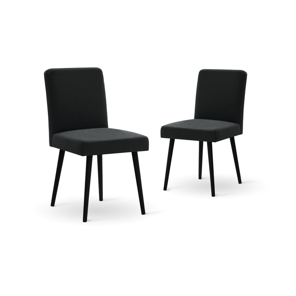 Set dvoumístné tmavě modré pohovky, 2černých židlí a matrace 140 x 200 cm Home Essentials