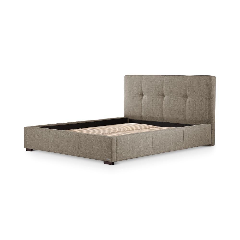 Světle hnědá postel s úložným prostorem Ted Lapidus Maison COBALT, 160x200cm