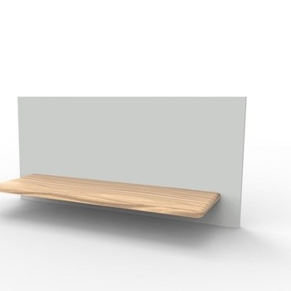 Světle šedý policový díl HARTÔ Marcel, 120 x 70 cm