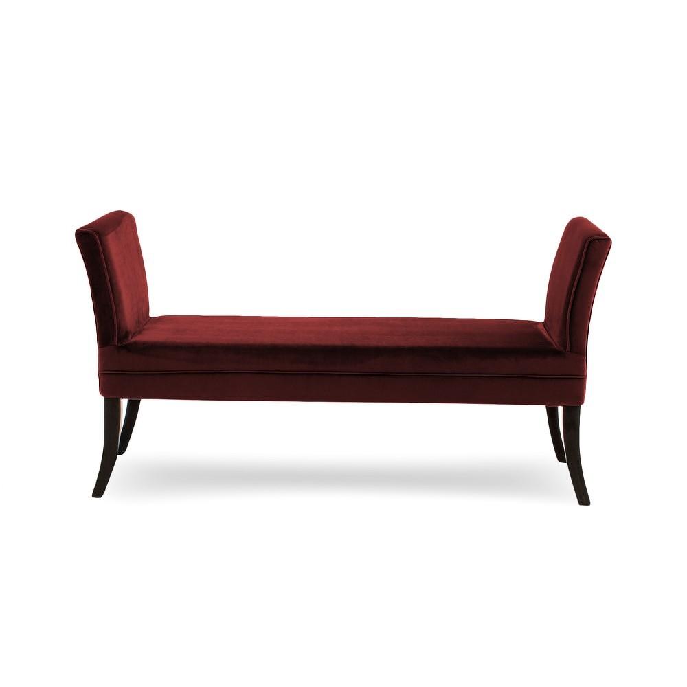 Tmavě červená lavice Vivonita Selma