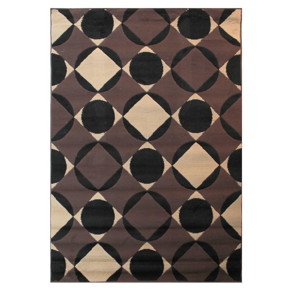 Tmavě hnědý koberec Flair Rugs Carnaby Chocolate, 80x150cm