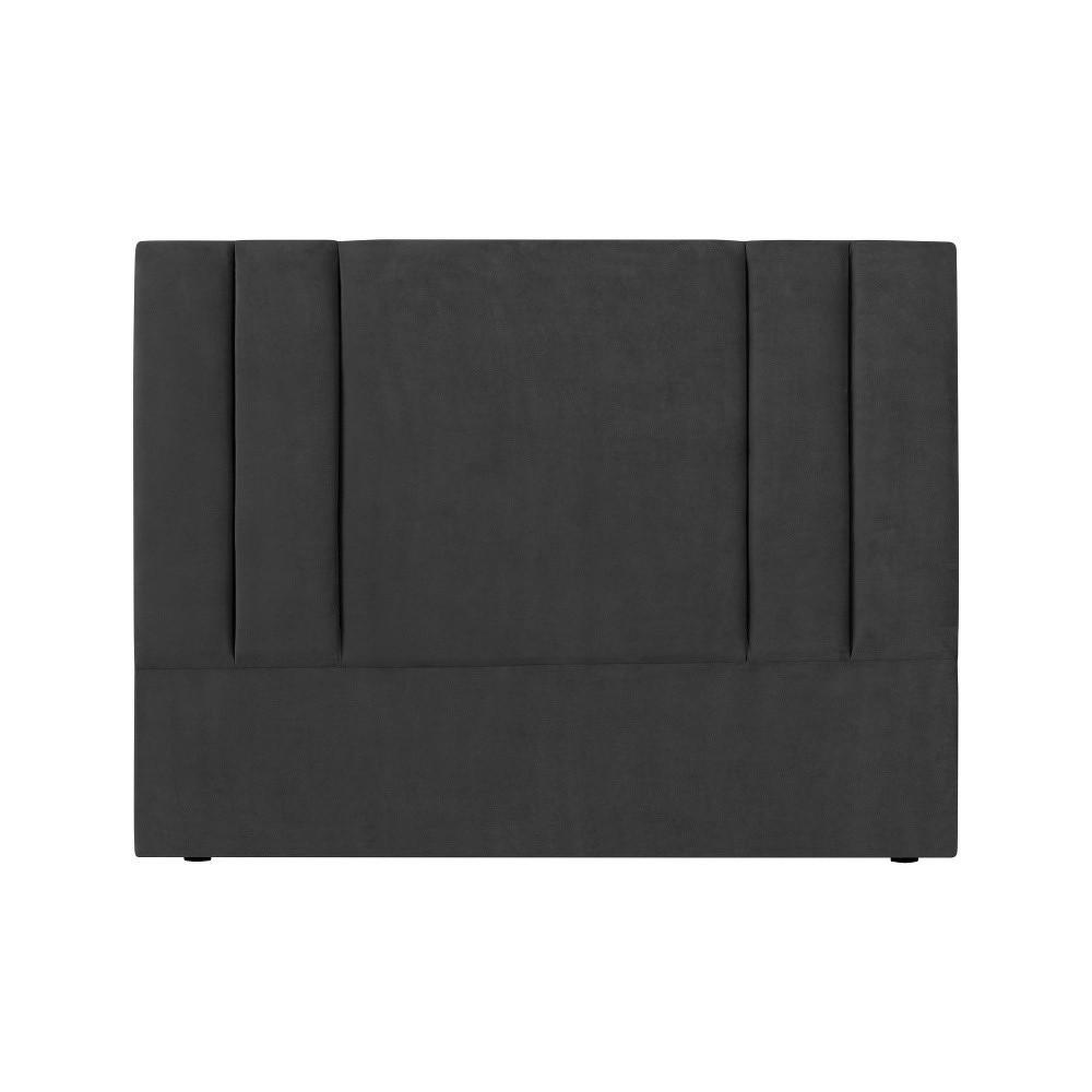 Tmavě šedé čelo postele Kooko Home Kasso, 120 x 140 cm