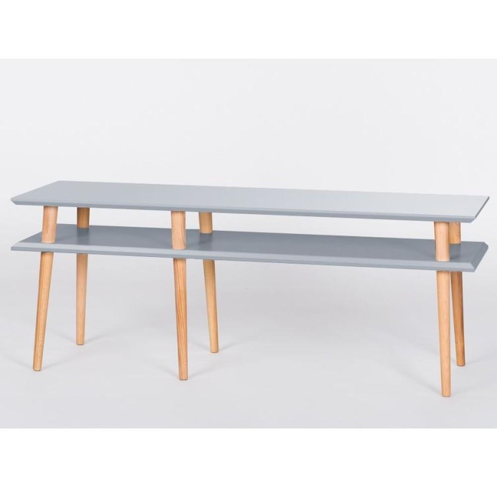 Tmavě šedý konferenční stolek Ragaba Mugo, 139cm