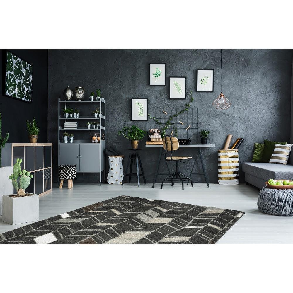 Tmavě šedý ručně vyráběný koberec Obsession My Soho Anth, 80 x 150 cm