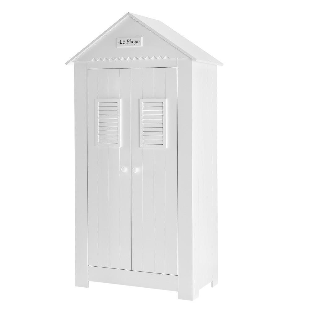 Vysoká bílá dvoudveřová šatní skříň Pinio Marseille