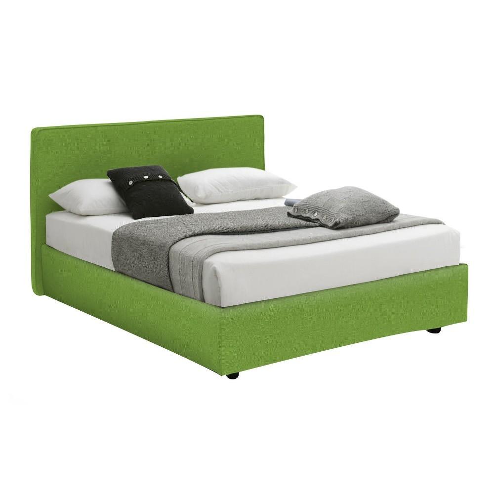 Zelená jednolůžková postel s úložným prostorem 13Casa Ninfea, 120x190cm