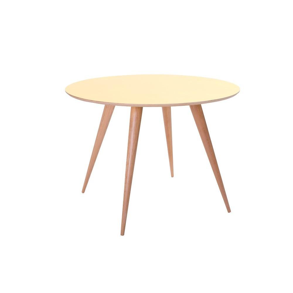 Žlutý jídelní stůl Ragaba Planet Round