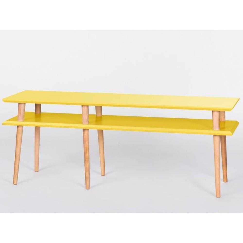 Žlutý konferenční stolek Ragaba Mugo,délka139cm
