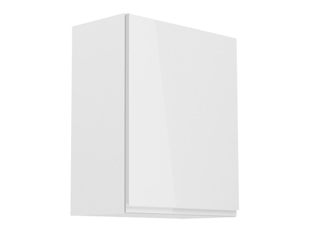 ASPEN, skříňka horní G60P pravá, bílá/bílý lesk