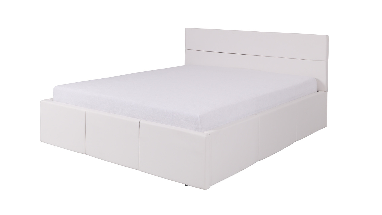 CALABRINI postel 160x200 cm, bílá