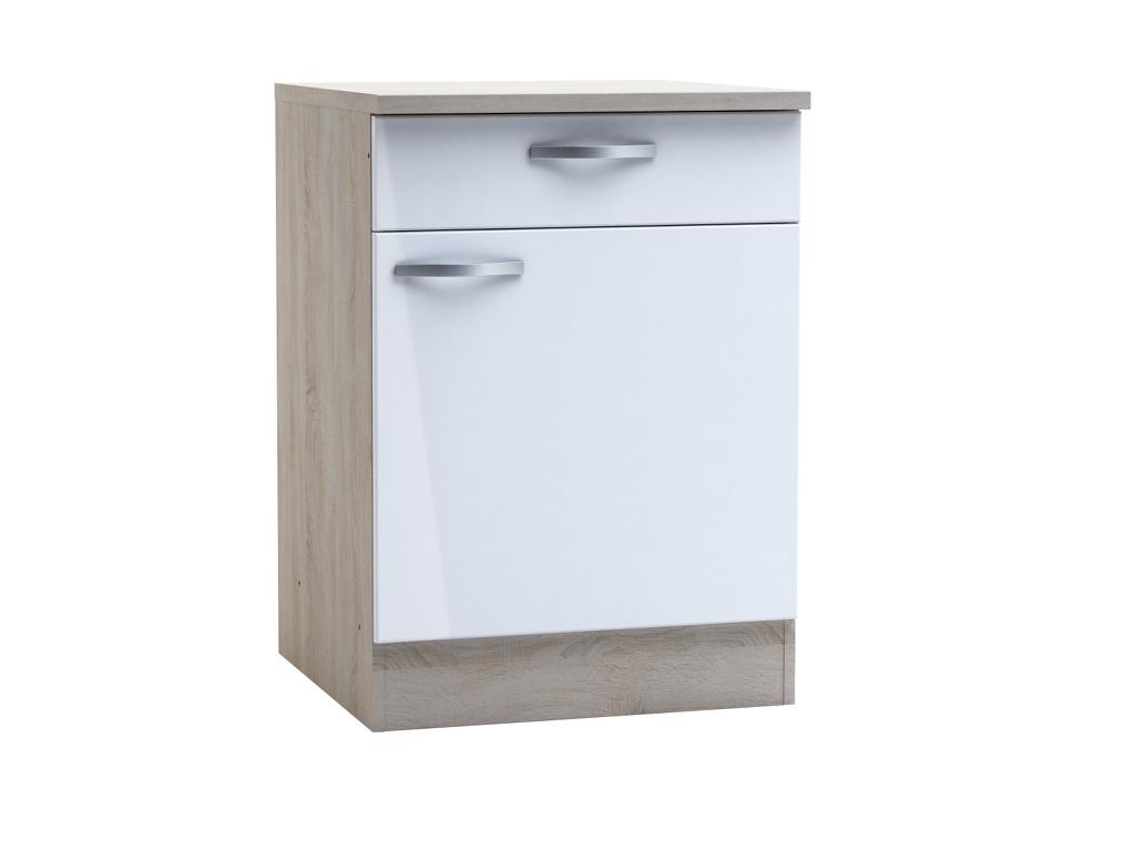 DEMEYERE CHANTILY, skříňka dolní se šuplíkem 60 cm, bílý lesk