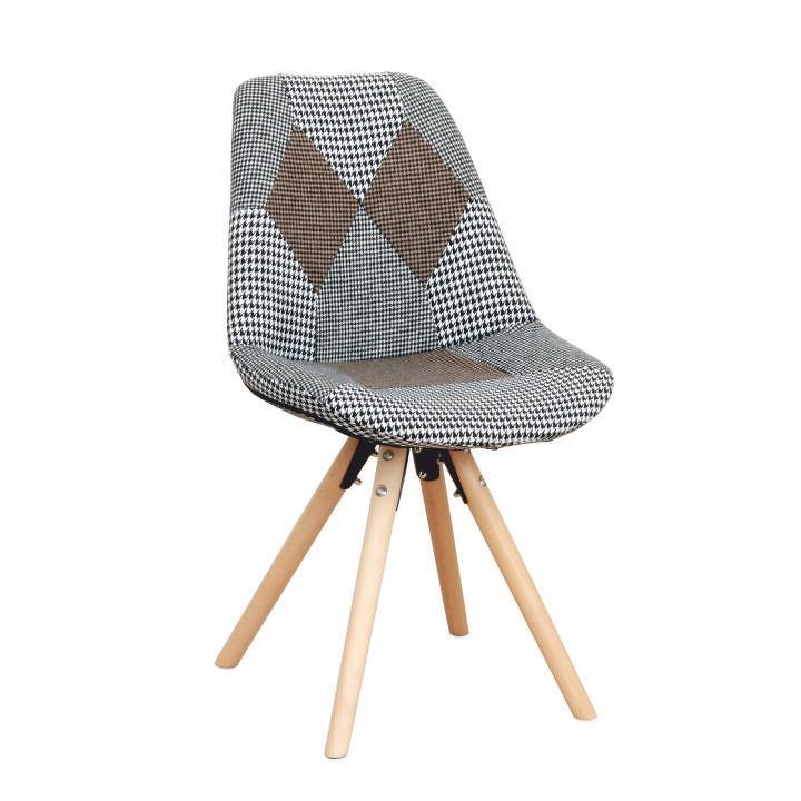 Designová stolička PEPITO TYP 10, látka patchwork