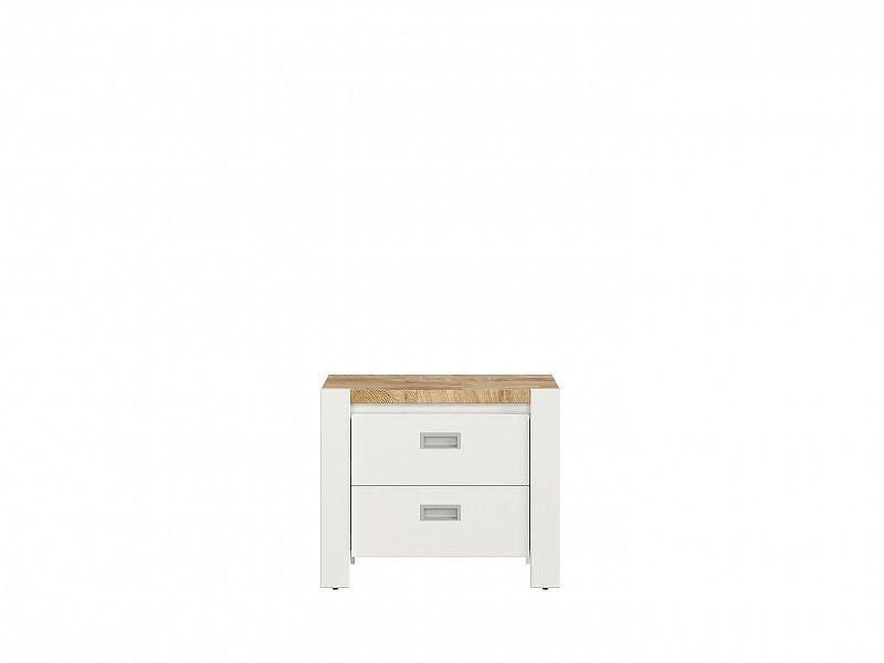 DREVISO BABY noční stolek, bílá/dub westminster