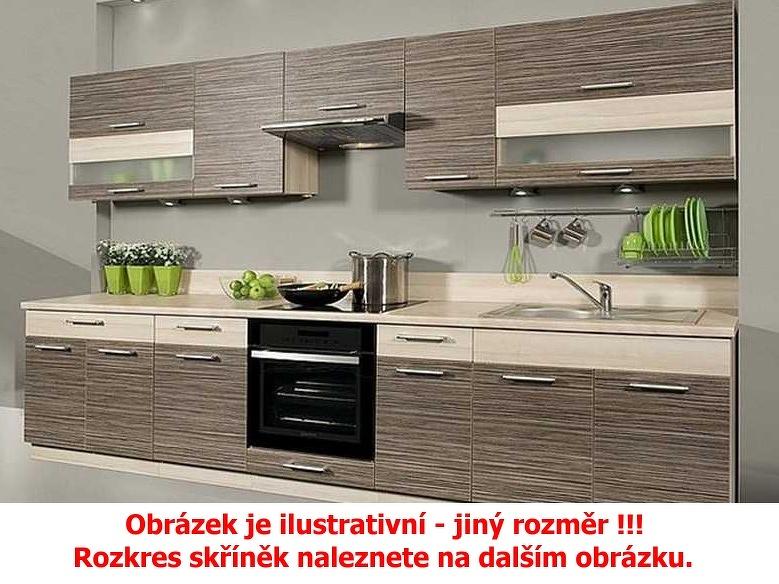 Extom Kuchyně KAMMDUO 210-Z8, zebrano/hruška