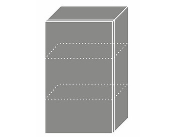 Extom TITANIUM, horní skříňka W2 45, korpus: lava, barva: fino černé