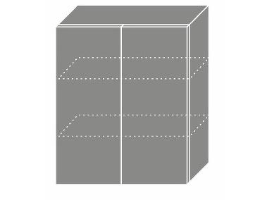 Extom TITANIUM, horní skříňka W3 60, korpus: bílý, barva: fino černé