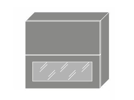 Extom TITANIUM, horní skříňka W8B 80 AV WKF, korpus: bílý, barva: fino černé