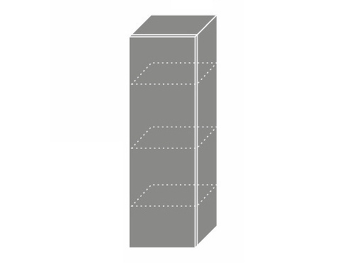 Extom TITANIUM, skříňka horní W4 30, korpus: bílý, barva: fino černé