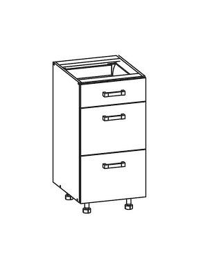 FIORE dolní skříňka D3S 40 SAMBOX, korpus bílá alpská, dvířka bílá supermat