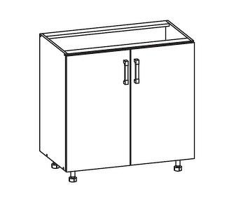 FIORE dolní skříňka D80, korpus ořech guarneri, dvířka bílá supermat