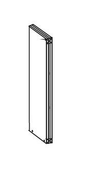 FIORE horní pilastr GI 5/72, korpus congo, dvířka bílá supermat