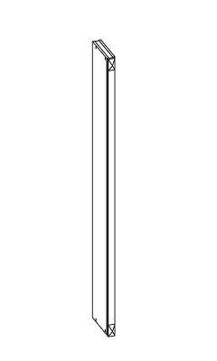 FIORE horní pilastr GI5/95, korpus congo, dvířka bílá supermat