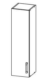 FIORE horní skříňka G30/95, korpus ořech guarneri, dvířka bílá supermat