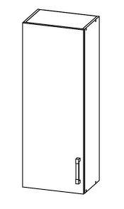 FIORE horní skříňka G40/95, korpus wenge, dvířka bílá supermat