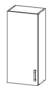 FIORE horní skříňka G45/95, korpus ořech guarneri, dvířka bílá supermat