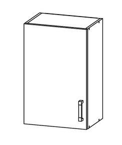 FIORE horní skříňka G50/72, korpus wenge, dvířka bílá supermat