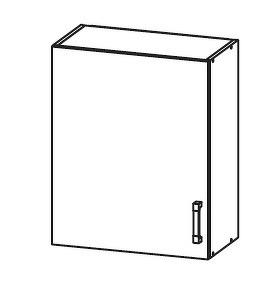FIORE horní skříňka G60/72, korpus congo, dvířka bílá supermat