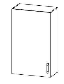 FIORE horní skříňka G60/95, korpus wenge, dvířka bílá supermat