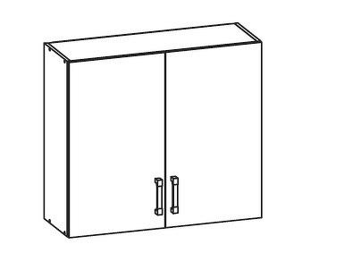 FIORE horní skříňka G80/72, korpus wenge, dvířka bílá supermat