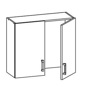 FIORE horní skříňka GC80/72, korpus ořech guarneri, dvířka bílá supermat