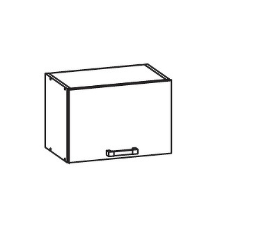 FIORE horní skříňka GO50/36, korpus congo, dvířka bílá supermat