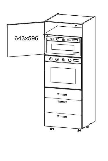 FIORE vysoká skříň DPS60/207 SAMBOX, korpus ořech guarneri, dvířka bílá supermat