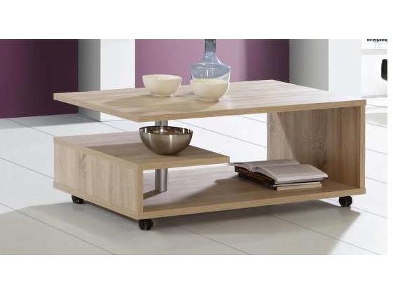 Forte BAILEY, konferenční stolek, dub sonoma