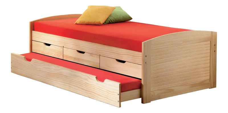 Idea Postel vysoká Marinella 8806 vč. roštu - 90x200 cm, masiv borovice