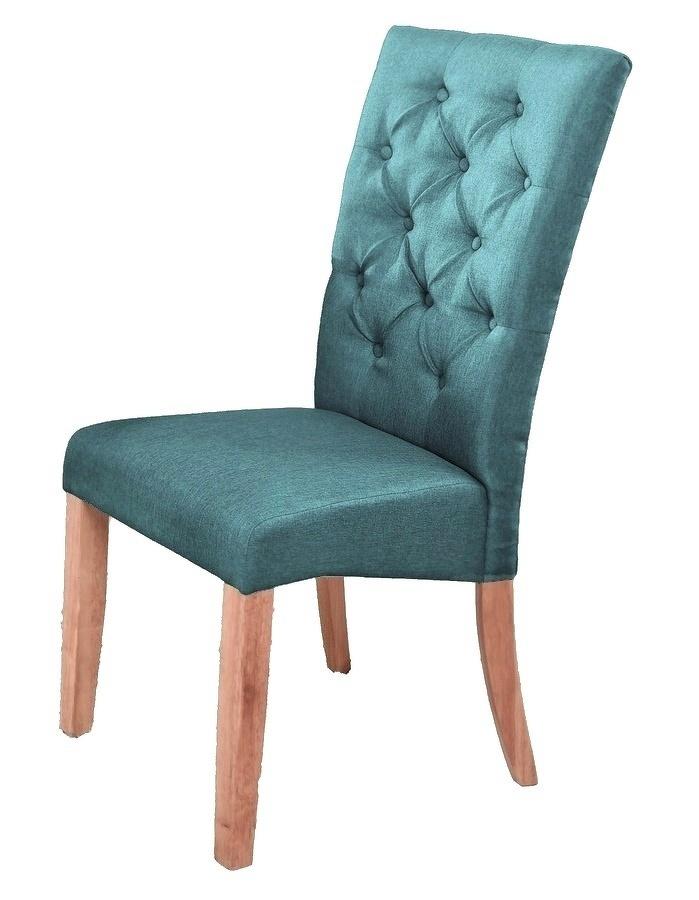 Jídelní čalouněná židle ATHENA, modrá/dub natural